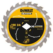DEWALT Lame de scie circulaire construction 24 dents XR 190mm Réf : DT40270