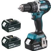 MAKITA Perceuse visseuse à percussion 18 V Li-ion 3 Ah Ø 13 mm (3 batteries) Réf : DHP484RF3J