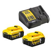 DEWALT Pack 2 batteries XR 18V 5 Ah Réf : DCB115P2