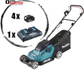 MAKITA Tondeuse 36 V => 2 x 18 V Li-Ion (4 batteries) Réf : DLM382PF4