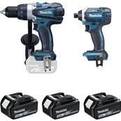 MAKITA Ensemble de 2 machines DDF458 + DTD152 Réf : DLX2144TJ1