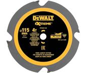 DEWALT Lame denture polycristalline Fibrociment 115 mm 4 dents Réf : DT20421