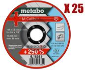 METABO 25 Meules d'ébarbage M-Calibur 125 mm Réf : 616291000