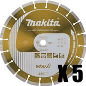 MAKITA 5 Disques diamants Nebula Ø 230 mm = 1 MEULEUSE GA9020 OFFERTE Réf : B-54025_5