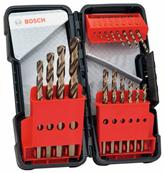 BOSCH Set 18 Forets à métaux rectifiés Toughbox HSS-Co Ref : 2607017047