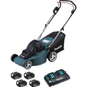 MAKITA Tondeuse 36 V => 2 x 18 V Li-Ion 38 cm (4 batteries) Réf : DLM380PF4