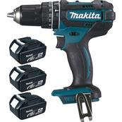 MAKITA Perceuse percussion 18V 4Ah Ø13 mm + 3 batteries Réf : DHP482RM3J